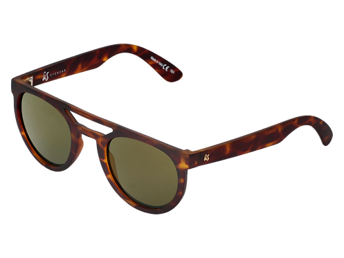 THE NEOS - Matte Tortoise Shell with Grey Gold Chrome Lenses (Made in Italy)