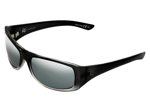 THE CARBO - Gloss Black Fade with Silver Lenses (Made in Italy)