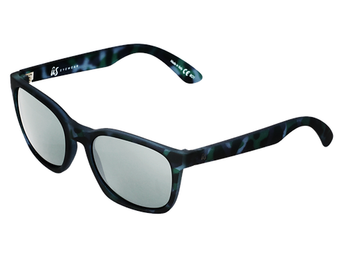 THE BARYS - Blue Tortoise Shell with Grey Silver Chrome Lenses (Made in Italy)