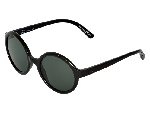 THE IRIS - Gloss Black with Vintage Grey Lenses (Made in Italy)