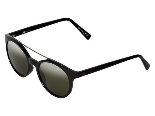 THE CALIX - Gloss Black with Vintage Grey Polarised Lenses (Made in Italy)