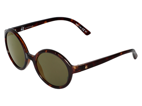 THE IRIS - Gloss Tortoise Shell with Grey Gold Chrome Lenses (Made in Italy)