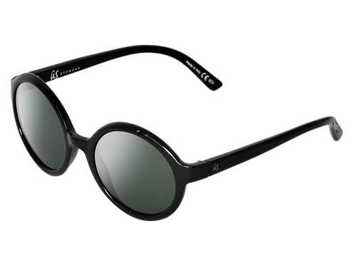 The Iris eco-friendly sunglasses by Us the Movement in gloss black with vintage grey lenses