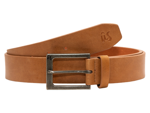 The Gibbsta Genuine Leather Belt in Savannah Brown by Us the Movement