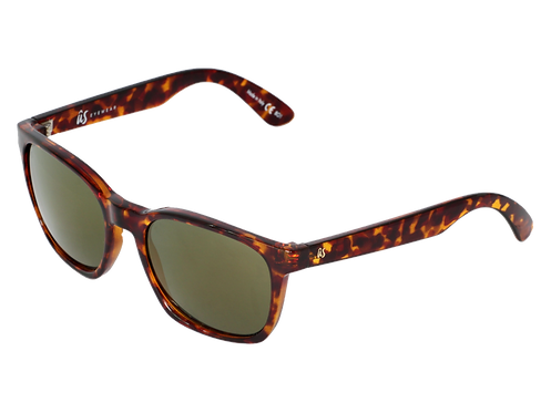 THE BARYS - Gloss Tortoise Shell with Grey Gold Chrome Lenses (Made in Italy)