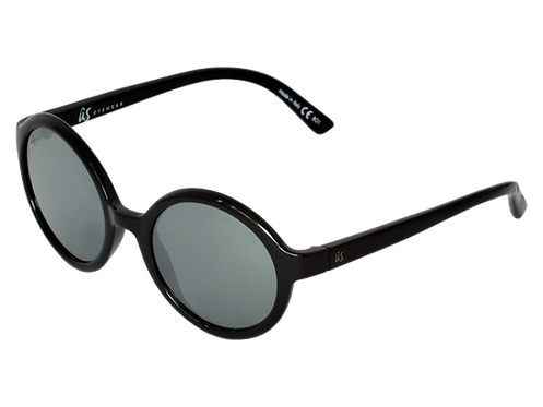 THE IRIS - Gloss Black with Grey Silver Chrome Lenses (Made in Italy)
