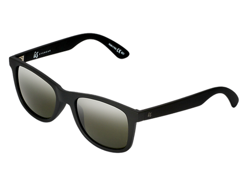 The Maty eco-friendly sunglasses by Us the Movement in matte black with polarised lenses