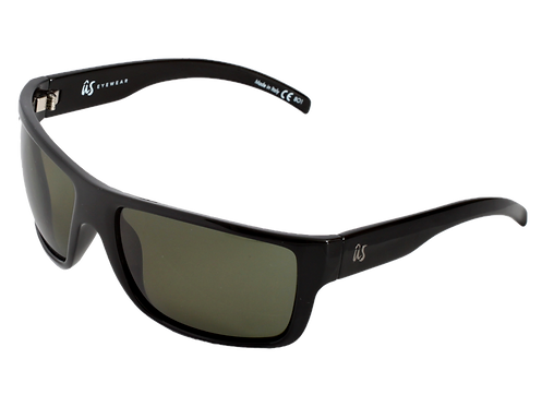 THE TATOU - Gloss Black with Grey Polarized Lenses (Made in Italy)