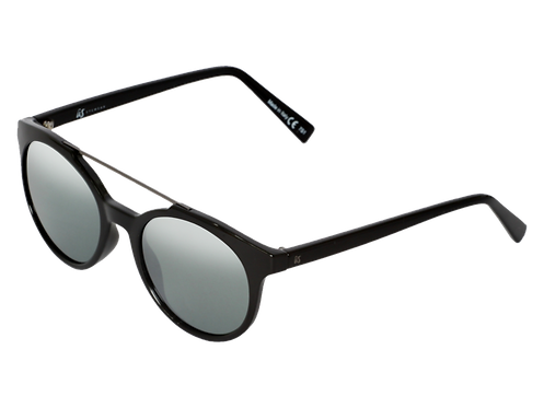 THE CALIX - Gloss Black with Grey Silver Chrome Lenses (Made in Italy)
