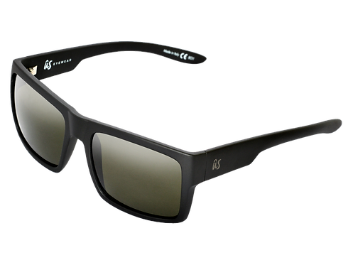 The Helios eco-friendly sunglasses by Us the Movement in matte black with polarised lenses