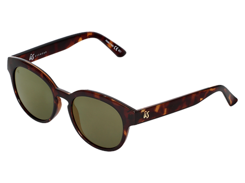 THE NATHI - Gloss Tortoise Shell with Grey Gold Chrome Lenses (Made in Italy)