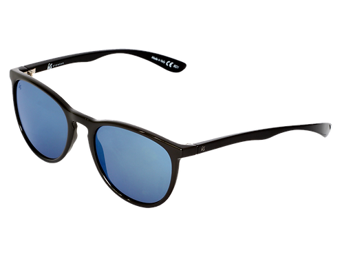 THE NOBIS - Gloss Black with Grey Blue Chrome Lenses (Made in Italy)
