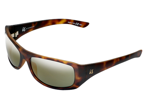 THE CARBO - Matte Tortoise Shell with Gold Lenses (Made in Italy)