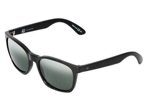 THE BARYS - Gloss Black with Vintage Grey Lenses (Made in Italy)