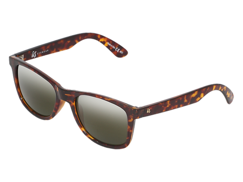 THE MATY - Gloss Tortoise Shell with Grey Polarised Lenses (Made in Italy)