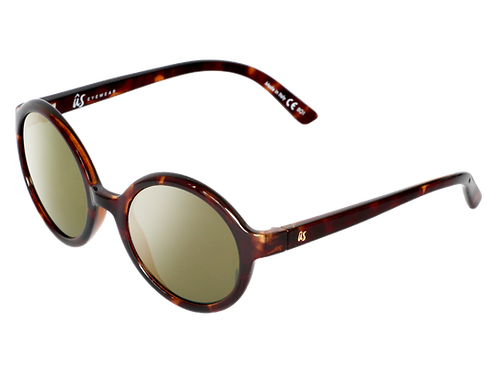The Iris eco-friendly sunglasses by Us the Movement in gloss brown tortoise shell