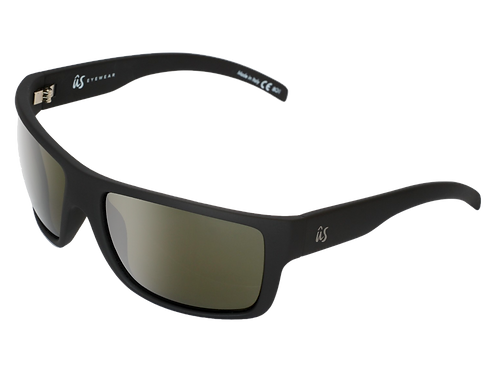 THE TATOU - Matte Black with Polarized Grey Lenses (Made in Italy)