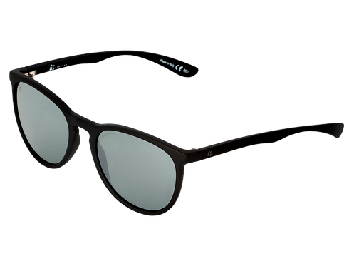 THE NOBIS - Matte Black with Vintage Grey Silver Chrome Lenses (Made in Italy)