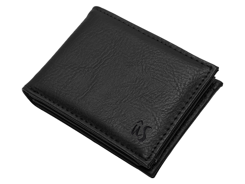 Us the Movement wallet - The Savage - black leather wallet