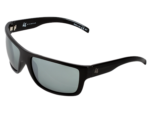 THE TATOU - Gloss Black with Grey Silver Chrome Lenses (Made in Italy)
