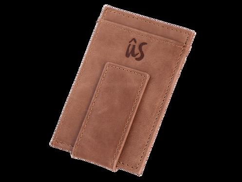 THE BRANDO MONEY CLIP - Genuine Leather Wallet in Savannah Brown