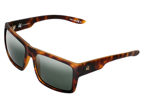THE HELIOS - Matte Tortoise Shell with Vintage Grey Lenses (Made in Italy)