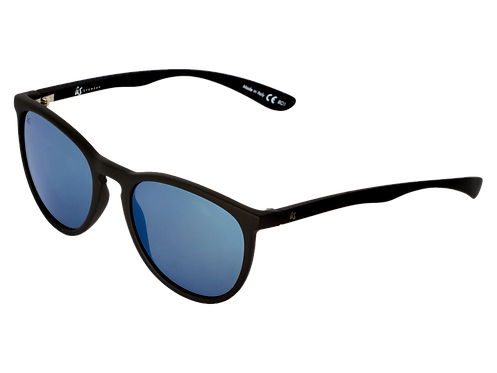 THE NOBIS - Matte Black with Grey Blue Chrome Lenses (Made in Italy)