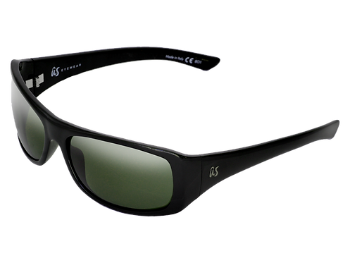 THE CARBO - Gloss Black with Polarized Vintage Grey Lenses (Made in Italy)
