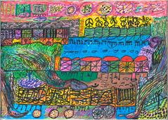 Desenho Hermeto Pascoal - Técnica Mista - 1999 - 2