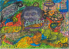 Desenho Hermeto Pascoal - Técnica Mista - 1999 - 8