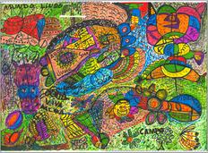 Desenho Hermeto Pascoal - Técnica Mista - 1999 - 1