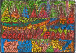 Desenho Hermeto Pascoal - Técnica Mista - 1999 - 3