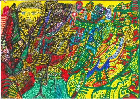 Desenho Hermeto Pascoal - Técnica Mista - 1999 - 10