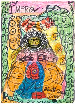Desenho Hermeto Pascoal - Técnica Mista - 1999 - 9