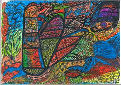 Desenho Hermeto Pascoal - Técnica Mista - 1999 - 6