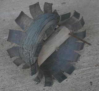 Enrouleur avec pneu