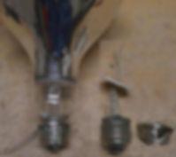 récupération culot ampoule