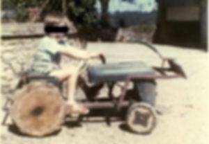 Tracteur bricolé