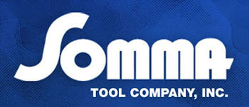Somma Tool Logo.  Rotary Broaching Tools and Holders. Full line of screw machine tooling and other cutting tools.