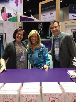 Andrea Pass with Jim Perrus meeting Joy Mangano at Housewares Show  2018