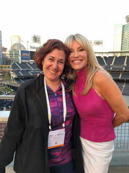 Andrea Pass with TV Pitchwoman Taylor Baldwin San Diego MTC 2018
