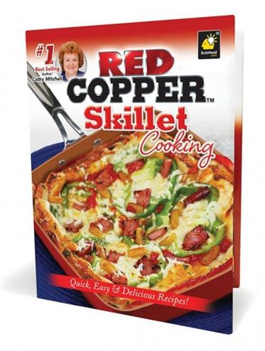 Red Copper Skillet Cooking by Cathy Mitc