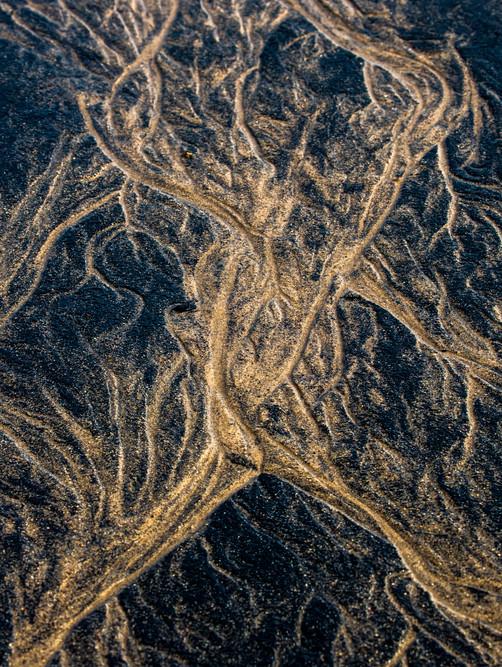 estuarine patterns of coal and sand