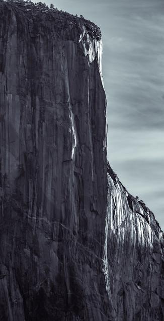 first light striking El Capitan, Yosemite