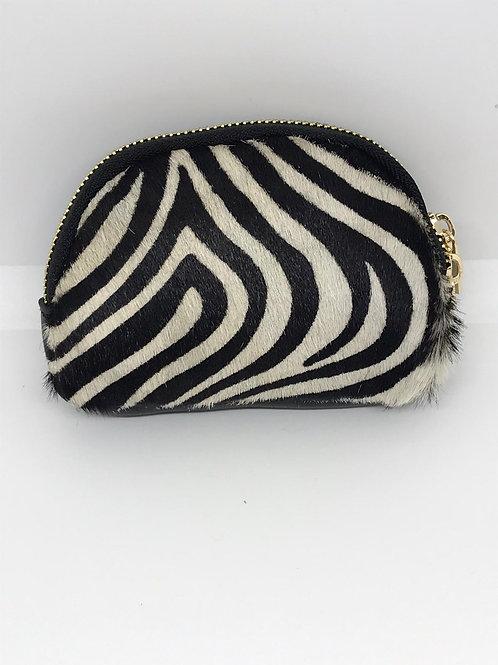 Leather Zebra Print Coin Purse
