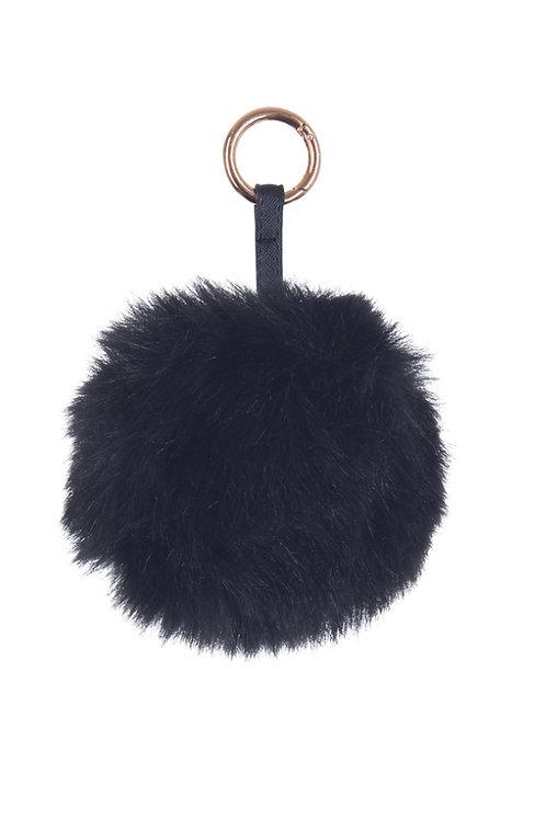 Pom Pom Key Ring - Black