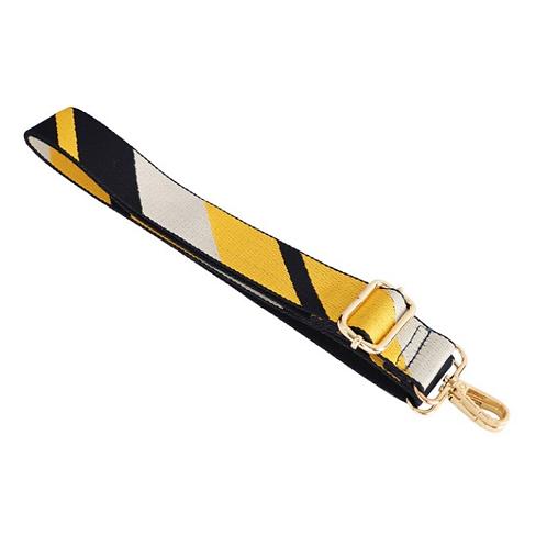 Stripe Bag Strap - Mustard Yellow / Navy Blue / Grey