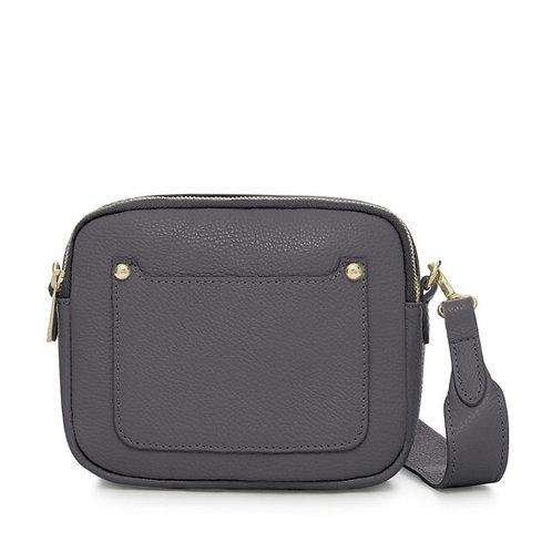Zara Leather Crossbody Bag -  Dark Grey