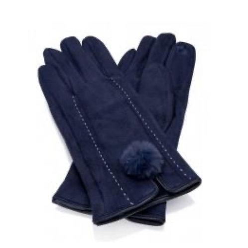 Phebe Gloves - Navy Blue