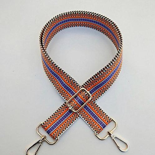 Aztec Bag Strap -  Orange